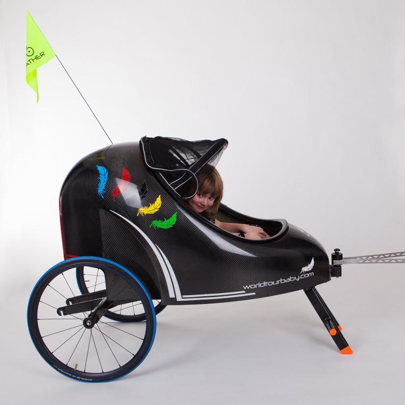 karbonový vozík za kolo